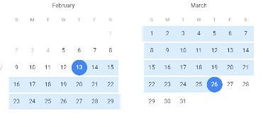 Google Flights Date Range Picker
